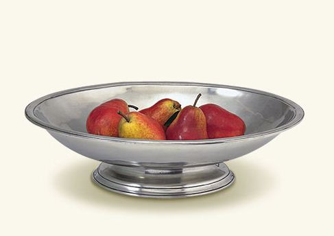Match Pewter Oval Footed Centerpiece