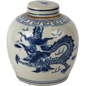 Mini Lidded Jar with Dragon