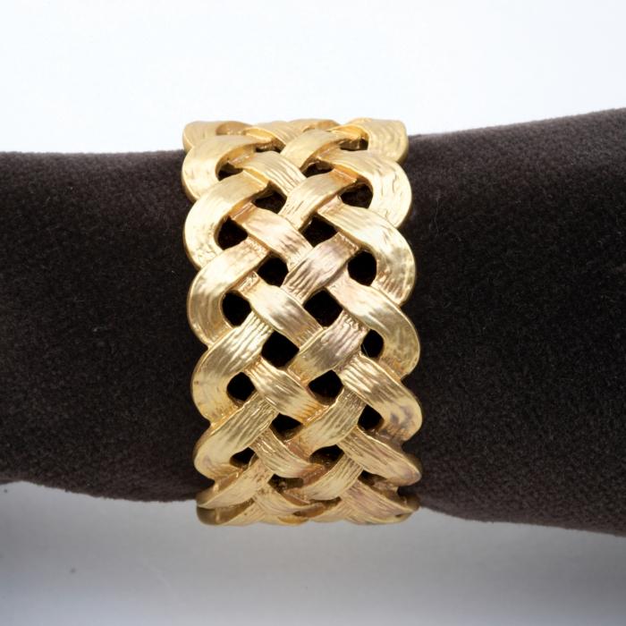Gold Braid Napkin Ring Set