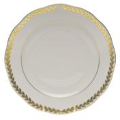 """Golden Laurel Dessert Plate  9""""D"""