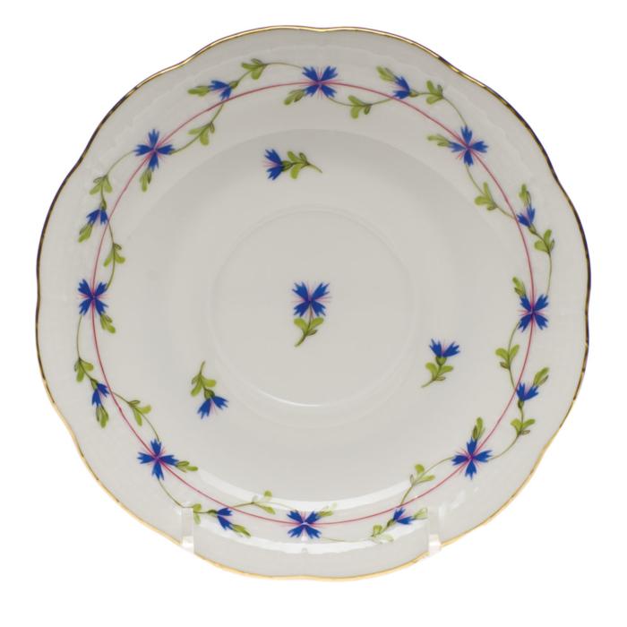 """Blue Garland Tea Saucer  6""""D"""