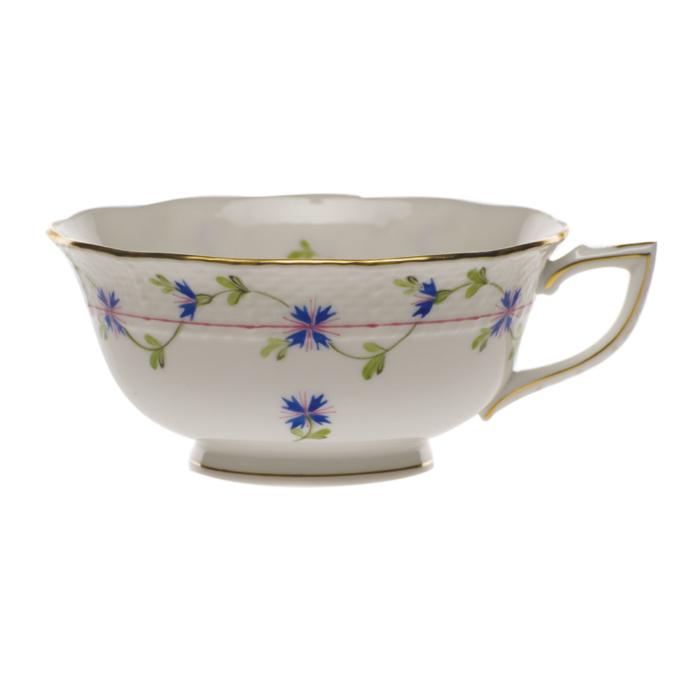 Blue Garland Tea Cup  (8 Oz)