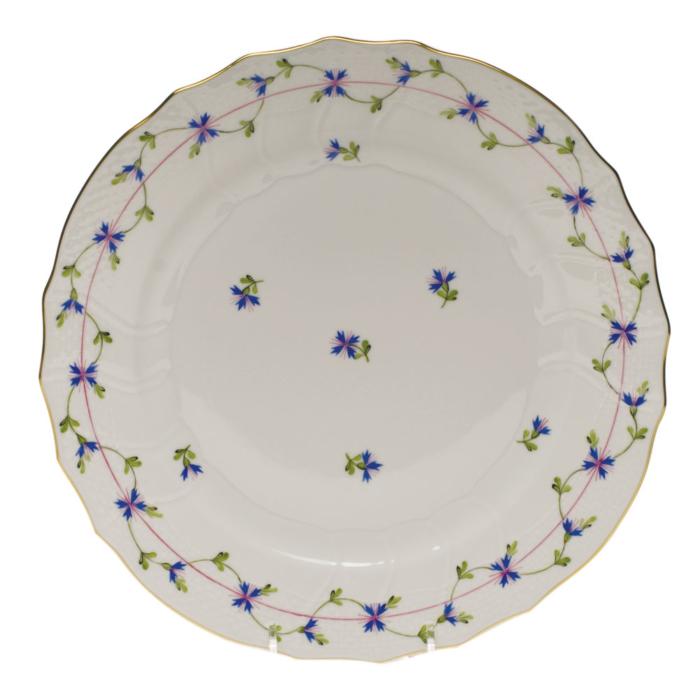 """Blue Garland Dinner Plate  10.5""""D"""