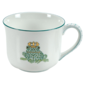 Green Fishnet Fancy Mug With Frog Prince (6 Oz)
