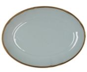 Powder Blue Oval Platter