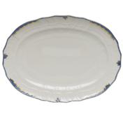 Princess Victoria Blue Oval Platter