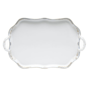 Princess Victoria Light Blue Rect. Tray With Branch Handles