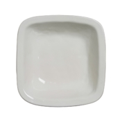 Puro Whitewash 12.5 inch Rounded Square Serving Bowl
