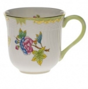 Queen Victoria Green Border Mug