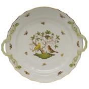 """Rothschild Bird Chop Plate With Handles  14""""D"""