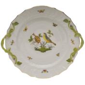 """Rothschild Bird Chop Plate With Handles  12""""D"""