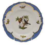 Rothschild Bird Blue Border Bread & Butter Plate - Motif 12 6