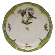 """Rothschild Bird Green Border Tea Saucer - Motif 12 6""""D"""