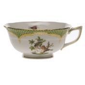 Rothschild Bird Green Border Tea Cup - Motif 10 (8 Oz)