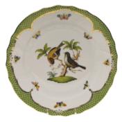 """Rothschild Bird Green Border Dinner Plate - Motif 12 10.5"""""""