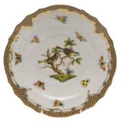 "Rothschild Bird Brown Border Salad Plate - Motif 11 7.5""D"
