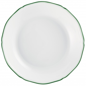 Raynaud Touraine Double Filet Green Coupe Soup Bowl
