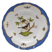 Rothschild Bird Blue Border Dessert Plate