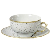 simply anna polka tea cup