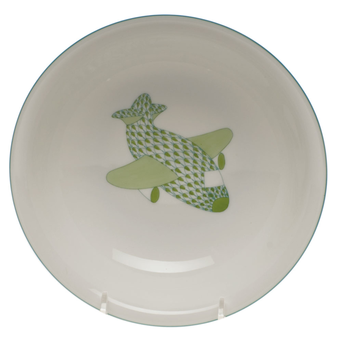 "Transportation Child Set Bowl With Plane 7""D"