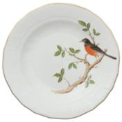 """Song Bird Dessert Plate - Robin 8.25""""D"""