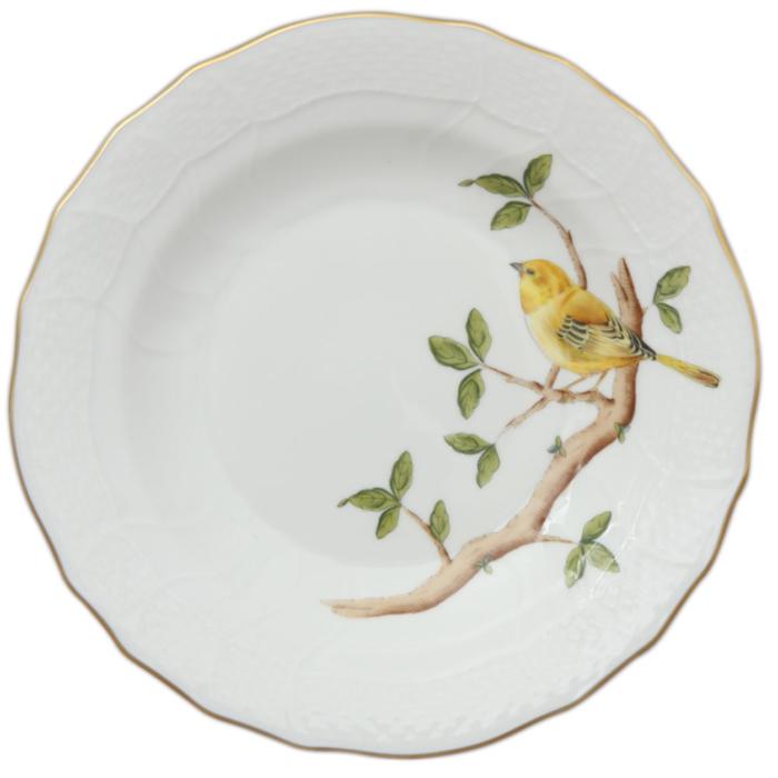 """Song Bird Dessert Plate - Warbler 8.25""""D"""