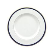pickard ultra white signature cobalt salad plate
