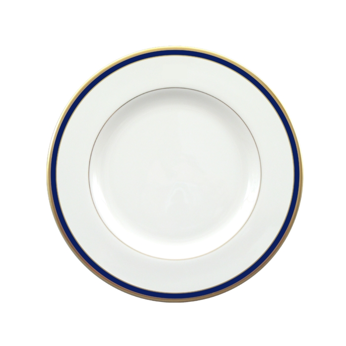pickard ultra white signature cobalt salad plate