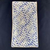 Terrafirma Ceramics Asparagus Platter Fern Cobalt