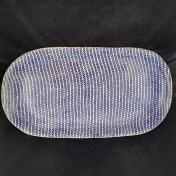 Terrafirma Ceramics Large Fish Platter Strata Cobalt