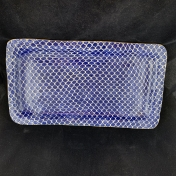 Terrafirma Ceramics Large Rectangular Tray Taj Cobalt