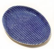 Terrafirma Ceramics Oval Tray Strata Cobalt
