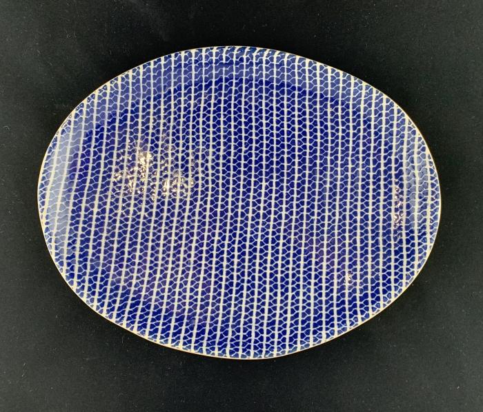 Terrafirma Ceramics Small Oval Tray Strata Cobalt