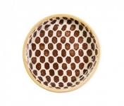 Terrafirma Ceramics Wine Coaster Dot Chestnut