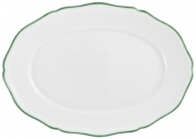 Touraine Double Filet Green Oval Platter-Small
