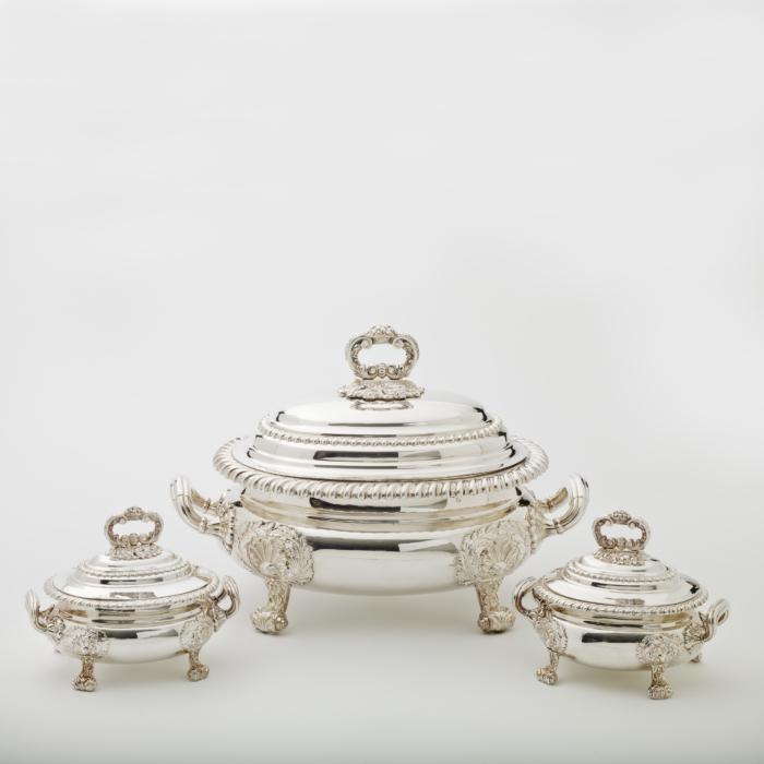 antique silver tureen