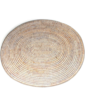 Whitewash Oval Placemat