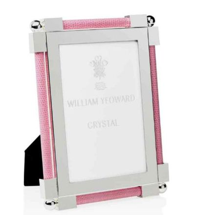 William Yeoward Classic Shagreen 4x6 Frame Pink