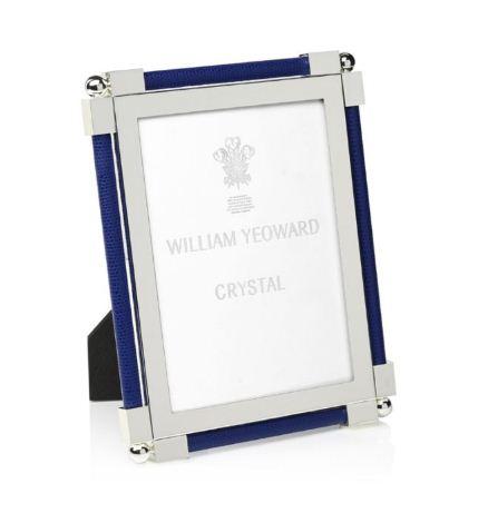 William Yeoward Classic Shagreen 5x7 Frame Dark Blue