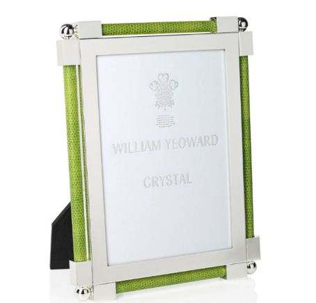 William Yeoward Classic Shagreen Frame 5x7 Lime Green