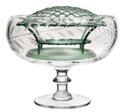 William Yeoward Jasmine Footed Rose Bowl and Wire