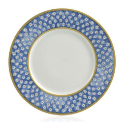 William Yeoward Leckford Dessert Plate Blue