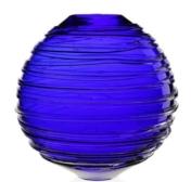 William Yeoward Miranda 11 inch Vase Ocean Blue