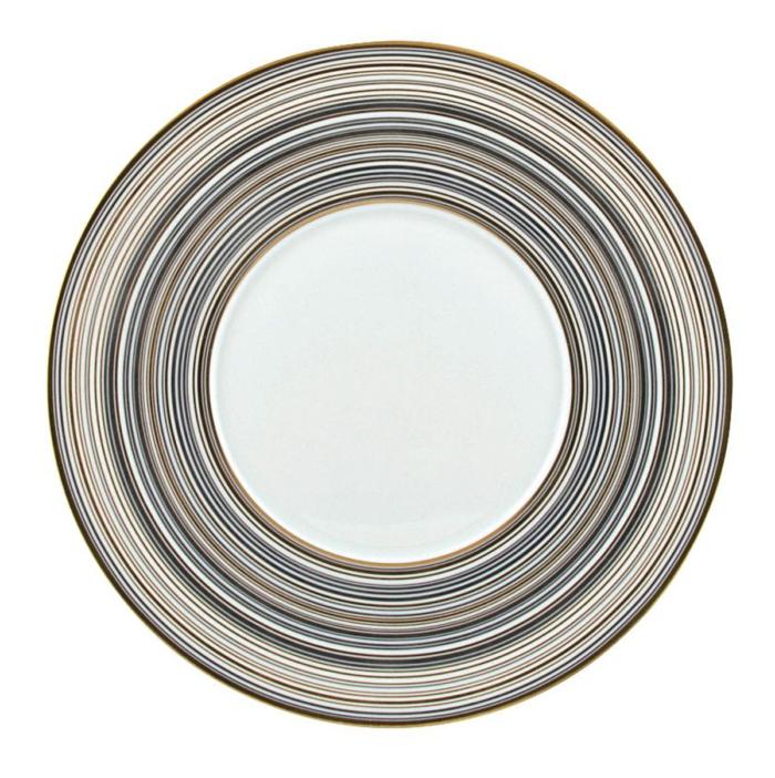 Attraction Gold/Platinum Dessert Plate