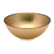 "childs studio 10"" bubble bowl gold"