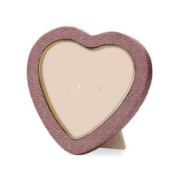 AERIN shagreen heart frame bordeaux