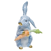 bunny w carrot blue