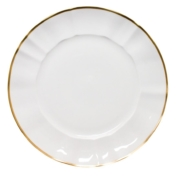 Anna Weatherley Charger white with gold