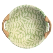 "terrafirma ceramics 9"" vegetable dish with handles"