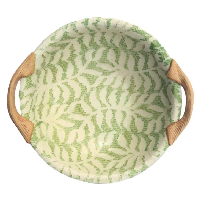 "terrafirma ceramics 9"" vegetable dish with handles"